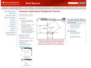 Exploring the Pythagorean Theorem Lesson Plan