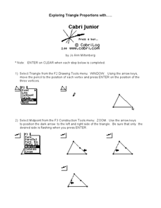 Exploring Triangle Proportions Lesson Plan