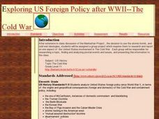 Exploring US Foreign Policy after WWII--The Cold War Lesson Plan