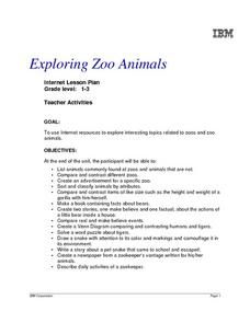 Exploring Zoo Animals Lesson Plan