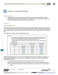 Exponential Decay Lesson Plan