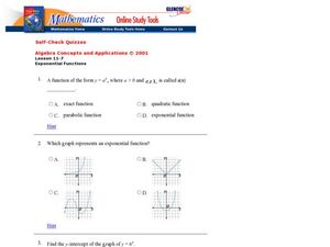 Exponential Functions Worksheet