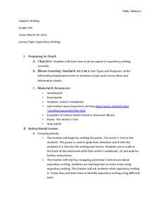 Expository Writing Lesson Plan