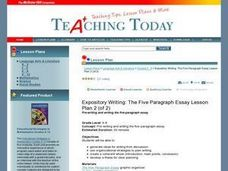 Expository Writing: The Five-Paragraph Essay Lesson Plan