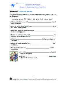 Printables Will Worksheet will worksheet davezan expressing future time with quot 5th 7th grade worksheet