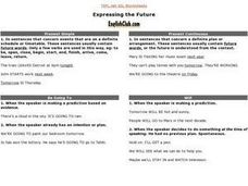 Expressing the Future Worksheet