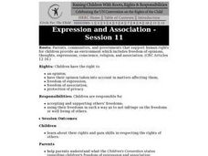 Expression and Association: Children's Rights Lesson Plan