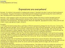 Expressions are Everywhere! Lesson Plan