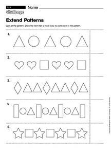 extend patterns kindergarten worksheet lesson planet. Black Bedroom Furniture Sets. Home Design Ideas