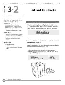 Extend the Facts Lesson Plan