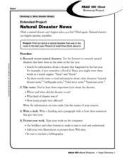 Extended Project Natural Disaster News Worksheet