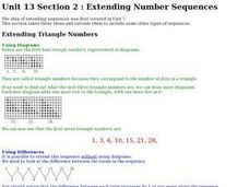 Extending Online Number Sequences Worksheet