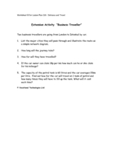 "Extension Activity ""Business Traveller"" Worksheet"