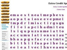 Extra Credit Spelling: Word Search Worksheet