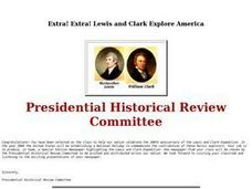Extra! Extra! Lewis and Clark Explore America Lesson Plan