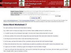Extra Word Worksheet 7 Worksheet