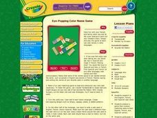 Eye-Popping Color Name Game Lesson Plan Lesson Plan