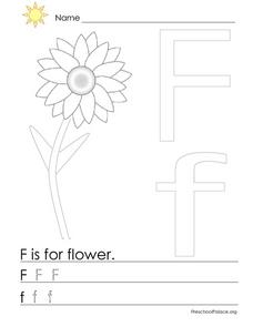 F Is For Flower Lesson Plan