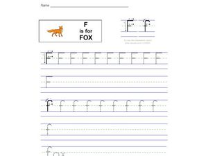 F is for Fox Worksheet