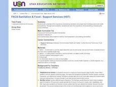FACS: Sanitation & Food - Support Services (HST) Lesson Plan