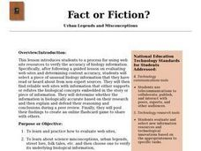 Fact or Fiction? Urban Legends and Misconceptions Lesson Plan
