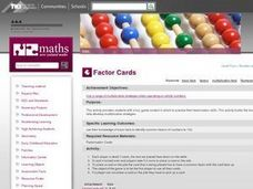 Factor Cards Lesson Plan