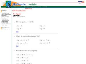 Factoring Completely Worksheet