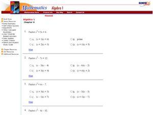 Factoring Trinomials X2 Bx C Worksheet - Samsungblueearth