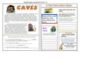 Facts About Caves Worksheet