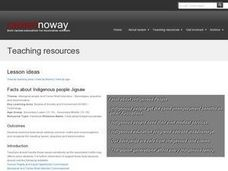Facts about Indigenous people Jigsaw Lesson Plan
