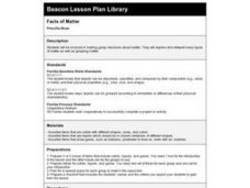 Facts of Matter Lesson Plan