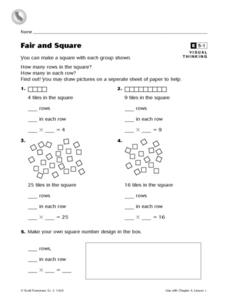 Fair and Square Worksheet