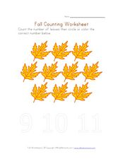 Fall Counting Worksheet