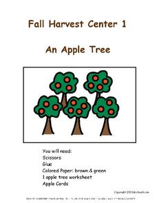 Fall Harvest Centers Worksheet
