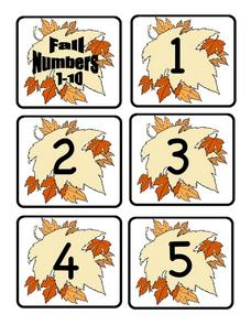 Fall Numbers Lesson Plan