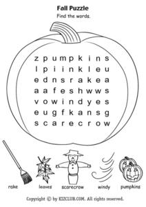 Fall Puzzle Lesson Plan