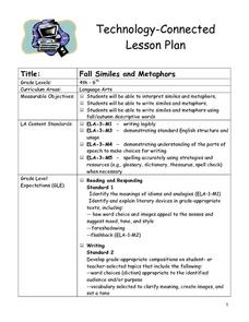 Fall Similes and Metaphors Lesson Plan