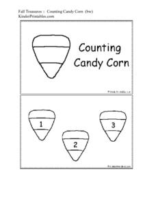 Fall Treasures: Counting Candy Corn Worksheet