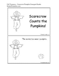 Fall Treasures: Scarecrow/Pumpkin Emergent Reader Worksheet