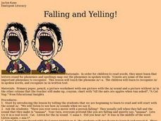 Falling and Yelling! Lesson Plan
