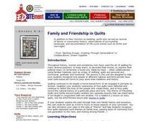 Family and Friendship in Quilts Lesson Plan