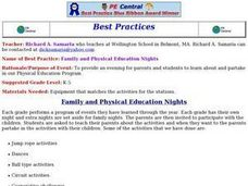 Family and Physical Education Nights Lesson Plan