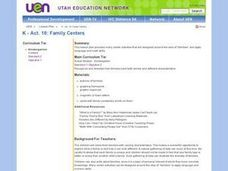 Family Centers Lesson Plan