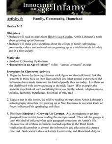 Family, Community, Homeland Lesson Plan