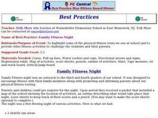 Family Fitness Night Lesson Plan