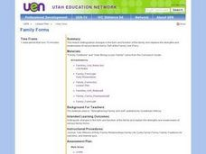 Family Forms Lesson Plan