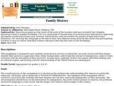 Family History - Lesson Plans Lesson Plan