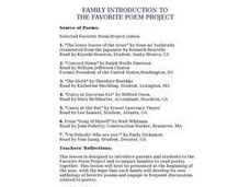 Family Introduction to The Favorite Poem Project Lesson Plan