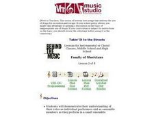 Family of Musicians Lesson Plan