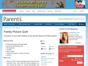 Family Picture Quilt Lesson Plan